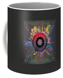 Coffee Mug featuring the digital art Eye Know Dark by Iowan Stone-Flowers