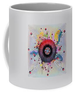 Coffee Mug featuring the digital art Eye Know Light by Iowan Stone-Flowers