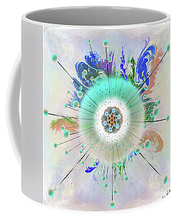 Coffee Mug featuring the digital art Eye Know Light Two by Iowan Stone-Flowers