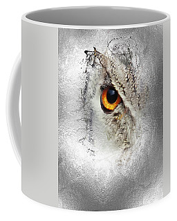Coffee Mug featuring the photograph Eye Of The Owl 1 by Fran Riley