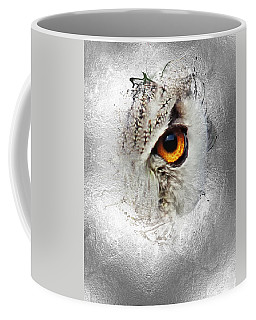 Coffee Mug featuring the photograph Eye Of The Owl 2 by Fran Riley