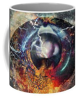 Coffee Mug featuring the digital art Eye Of The Storm by Linda Sannuti