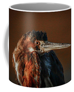 Eye To Eye With Heron Coffee Mug
