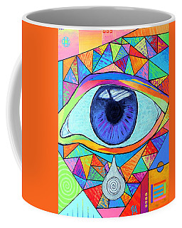 Eye With Silver Tear Coffee Mug