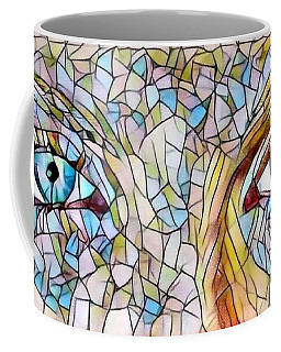Eyes Of A Goddess - Stained Glass Coffee Mug