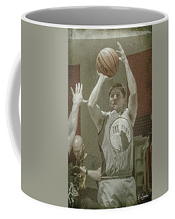 Coffee Mug featuring the photograph Eyes On The Basket by Ronald Santini