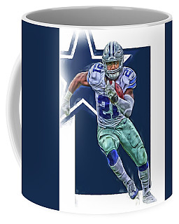 Ezekiel Elliott Dallas Cowboys Oil Art Series 3 Coffee Mug