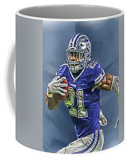 Ezekiel Elliott Dallas Cowboys Oil Painting 2 Coffee Mug