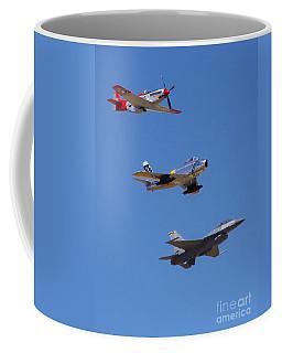 F-16 P-51d F-86 Heritage Flight- Flyby Coffee Mug