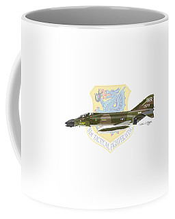 F-4d Phantom II Raf Bentwaters Coffee Mug by Arthur Eggers
