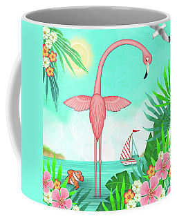 F Is For Flamingo Coffee Mug