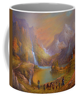 The Fellowship Breaking Camp Coffee Mug by Joe Gilronan