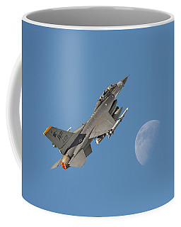 Coffee Mug featuring the photograph F16 - Aiming High by Pat Speirs