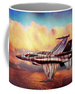Coffee Mug featuring the photograph F16c Fighting Falcon by Chris Lord