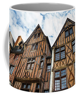 Facades Of Half-timbered Houses In Tours, France Coffee Mug
