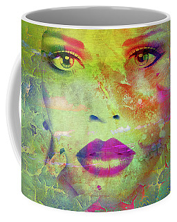 Face Crackle Coffee Mug