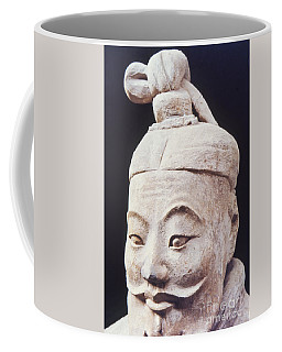 Coffee Mug featuring the photograph Face Of A Terracotta Warrior by Heiko Koehrer-Wagner