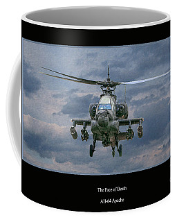 Face Of Death Ah-64 Apache Helicopter Coffee Mug
