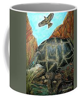 Face Off At The Waterhole Coffee Mug