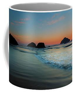 Coffee Mug featuring the photograph Face Rock Sundown by Mike Dawson