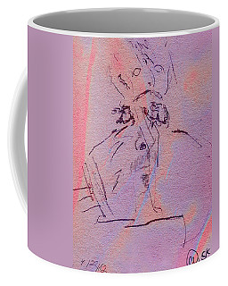Coffee Mug featuring the mixed media Faces Of Trivia by Steve Karol