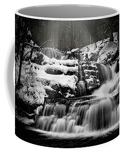 Coffee Mug featuring the photograph Factory Falls In Winter by Chris Lord
