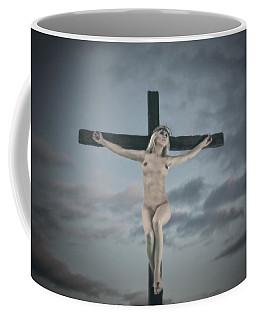 Faded Female Crucifix Coffee Mug