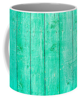 Fading Aqua Paint On Wood Coffee Mug by John Williams