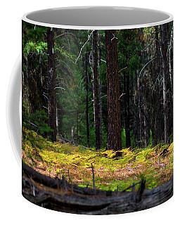Cascade Mountain Range Fading Ferns Coffee Mug