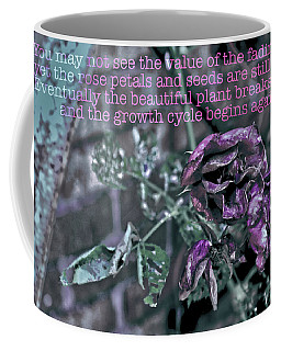 Coffee Mug featuring the photograph Fading Rose by Sandy Moulder
