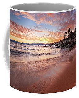 Fading Sunset Waves At Sand Harbor Coffee Mug