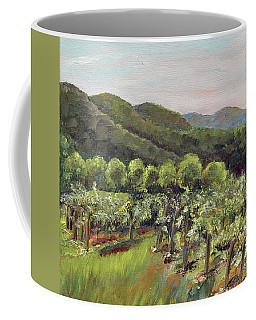 Coffee Mug featuring the painting Fainting Goat Valley - Vineyards -  Jasper, Ga by Jan Dappen