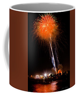 Fireworks As Seen From The Ventura California Pier Coffee Mug
