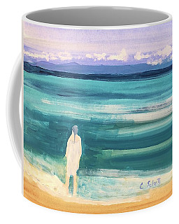 Fair Skined Bather Coffee Mug
