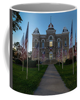 Fairbury Nebraska Avenue Of Flags - September 11 2016 Coffee Mug