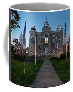 Fairbury Nebraska Avenue Of Flags - September 11 2016 Coffee Mug by Art Whitton