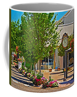 Fairhope Ave With Clock Looking North Up Section Street Coffee Mug