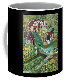 Coffee Mug featuring the painting Fairview Farm by Virginia Coyle