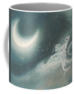 Fairy Sitting Watching Moon Coffee Mug