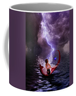 Fairy With Her Kitty Caught In The Rain Coffee Mug