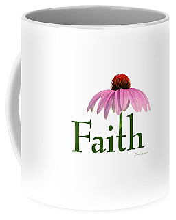 Faith Coneflower Shirt Coffee Mug by Ann Lauwers