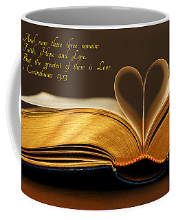 Faith. Hope. Love. Coffee Mug by Iryna Goodall