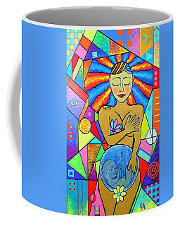 Faith, She Carries The World On Her Hips Coffee Mug