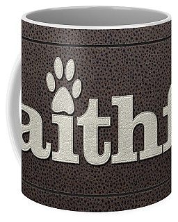 Faithful Leather On Leather Coffee Mug
