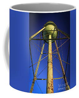Coffee Mug featuring the photograph Faithful Mary Leila Cotton Mill Water Tower Art by Reid Callaway