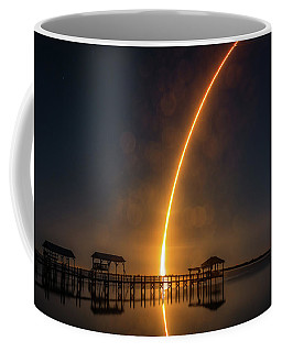 Falcon 9  Night Launch Coffee Mug