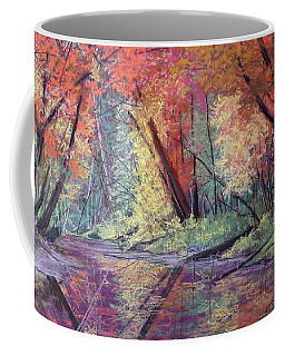 Fall Along The River Coffee Mug