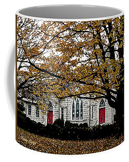 Fall At Church Coffee Mug