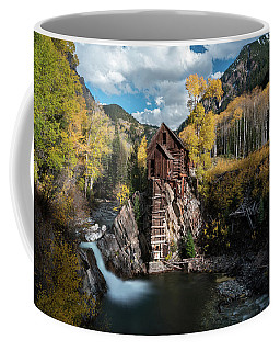 Coffee Mug featuring the photograph Fall At Crystal Mill by James Udall