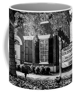 Fall At The Gold Museum In Black And White Coffee Mug